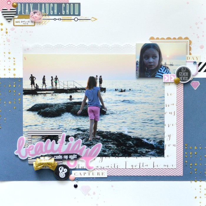 sunset scrapbook layout