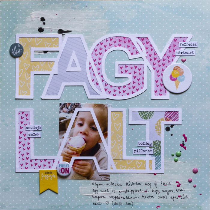 Fagylalt scrapbook layout icecream