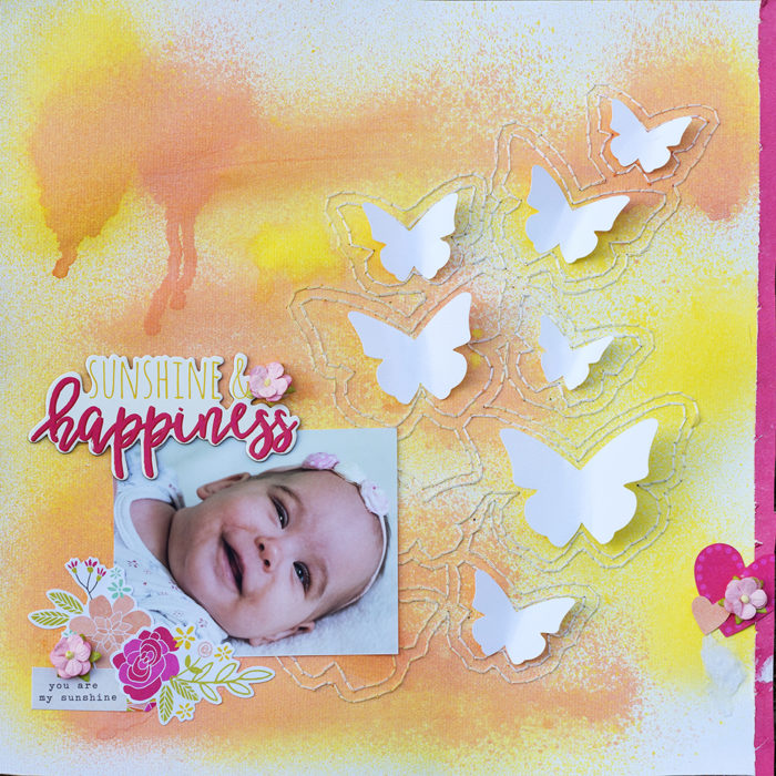Sunshine and Happines scrapbook oldal