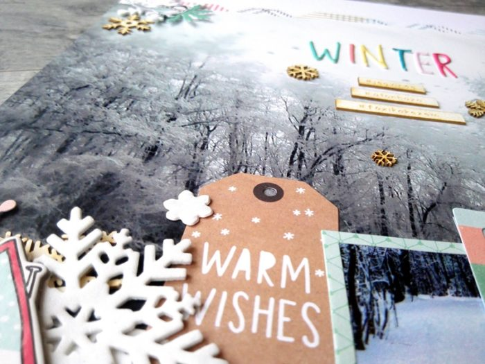 winter - scrapbook page
