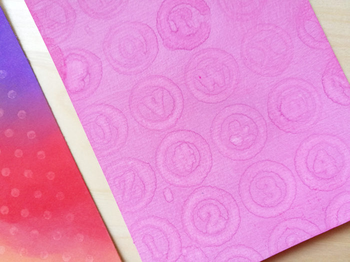 stamp with water on distress oxide ink