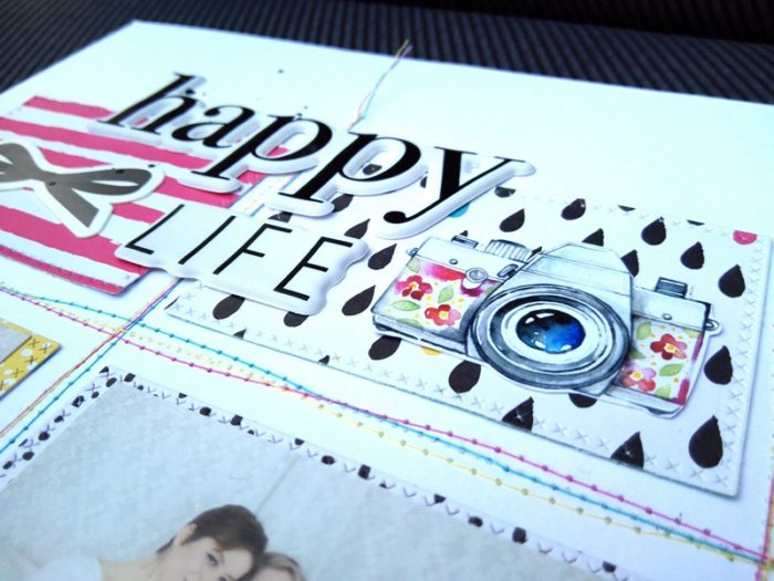Happy life -  scrapbook pagel by Andi