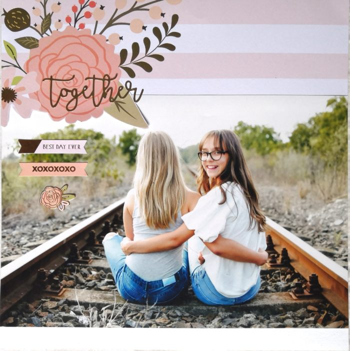 Together - scrapbook layout